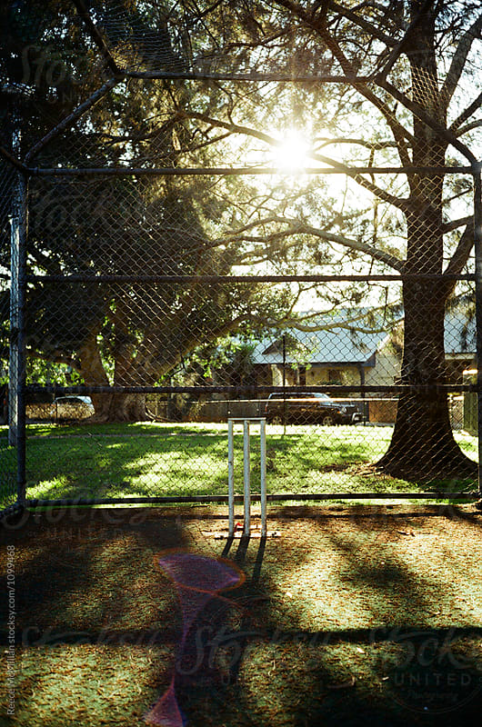 Cricket wicket in the park