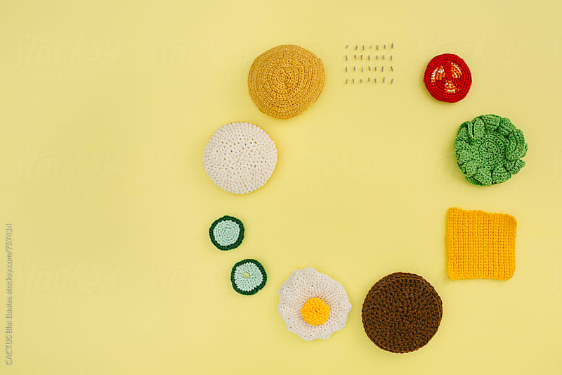 Amigurumi Hamburger Ingredients by CACTUS Blai Baules for Stocksy United