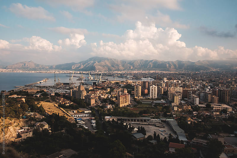 View of Palermo city from Mount Pellegrino by Branislav Jovanović for Stocksy United