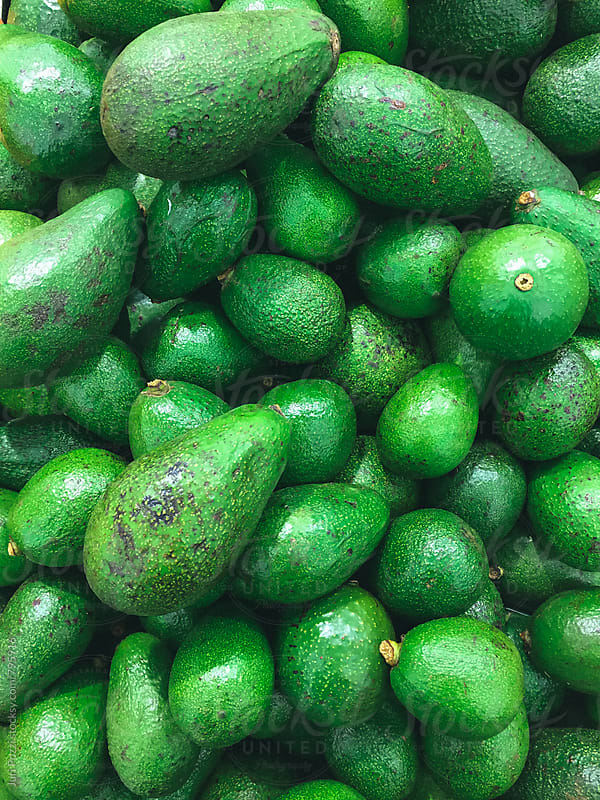 top view of avocados by Juri Pozzi for Stocksy United