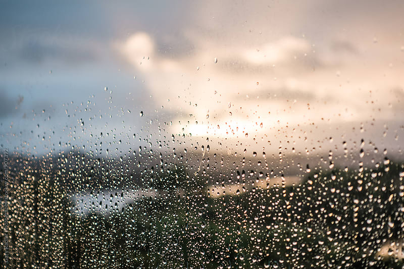 Raindrops on a Window by Gary Radler Photography for Stocksy United