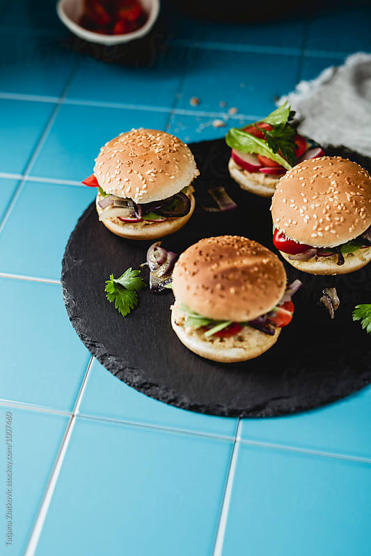 Vegan sandwiches by Tatjana Ristanic for Stocksy United