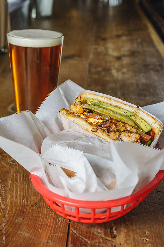 Bar Food: Chicken Tinga Torta Sandwich by Cameron Whitman for Stocksy United