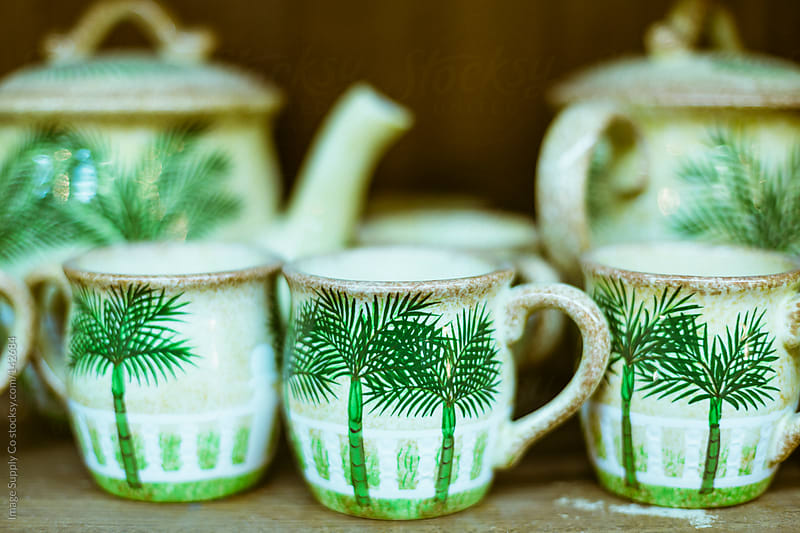 cute vintage teapot and cup set by Image Supply Co for Stocksy United