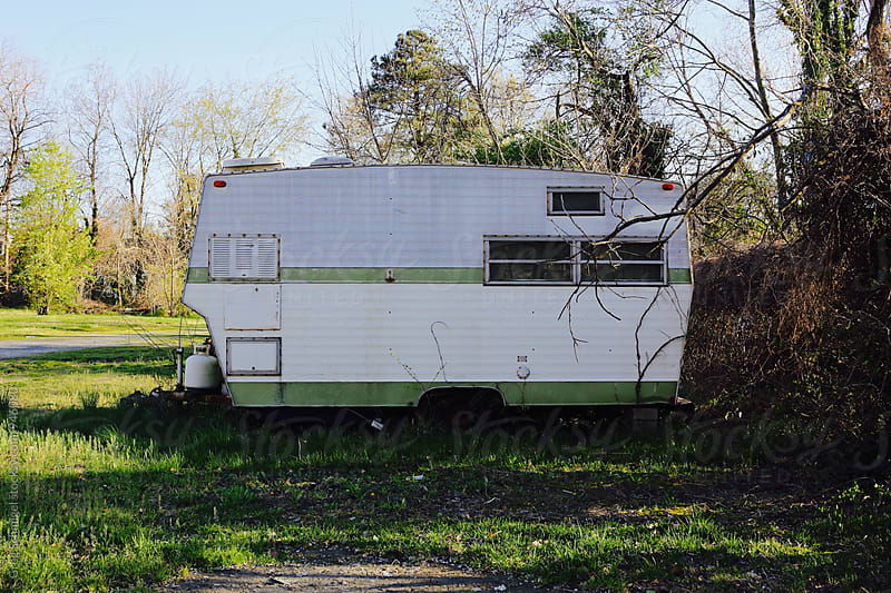 an old camper caravan trailer home by Greg Schmigel for Stocksy United