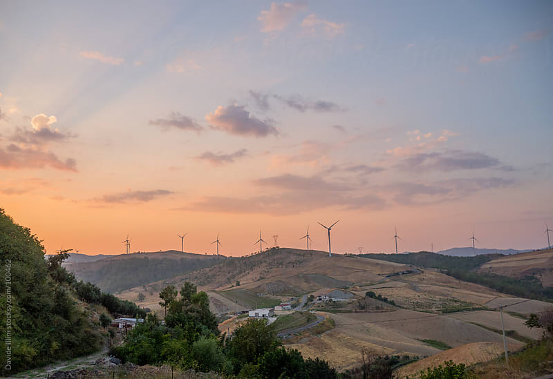Sunset on the hills in the south of Italy by Davide Illini for Stocksy United