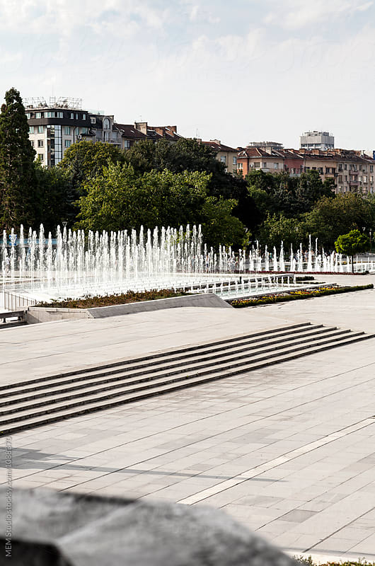 Fountains in Sofia, Bulgaria by MEM Studio for Stocksy United