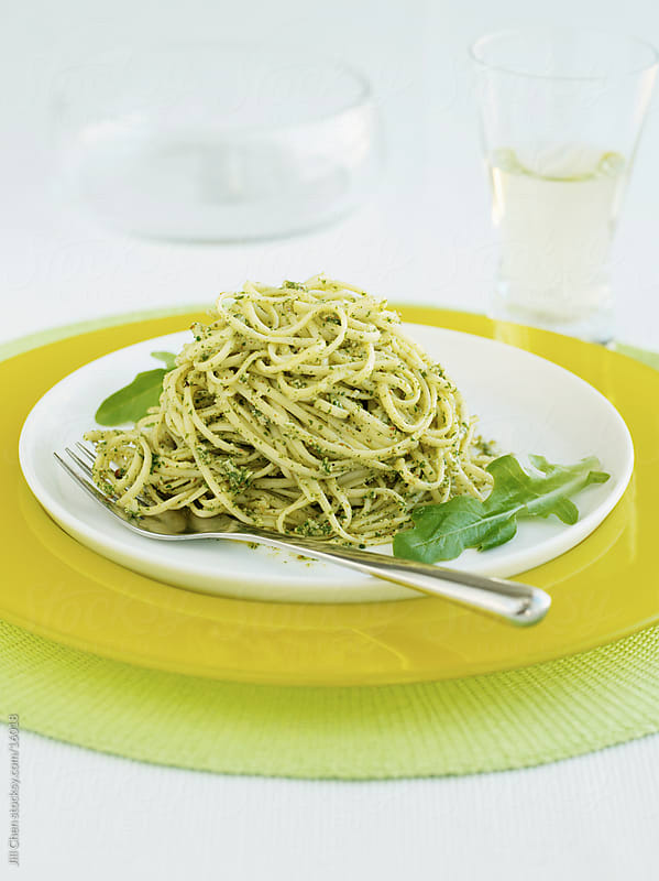 Pesto LInguine by Jill Chen for Stocksy United