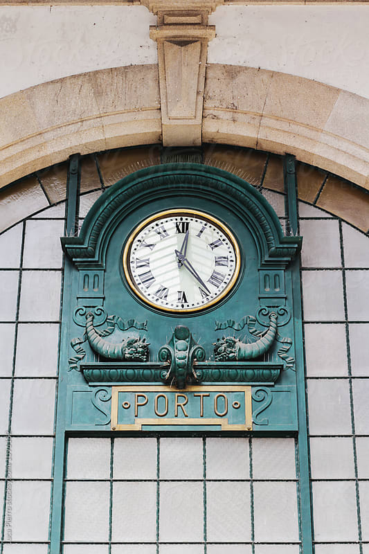 Vintage Sao Bento railway station Clock by Luca Pierro for Stocksy United
