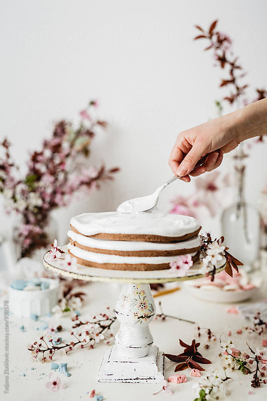 Making spring cake by Tatjana Ristanic for Stocksy United