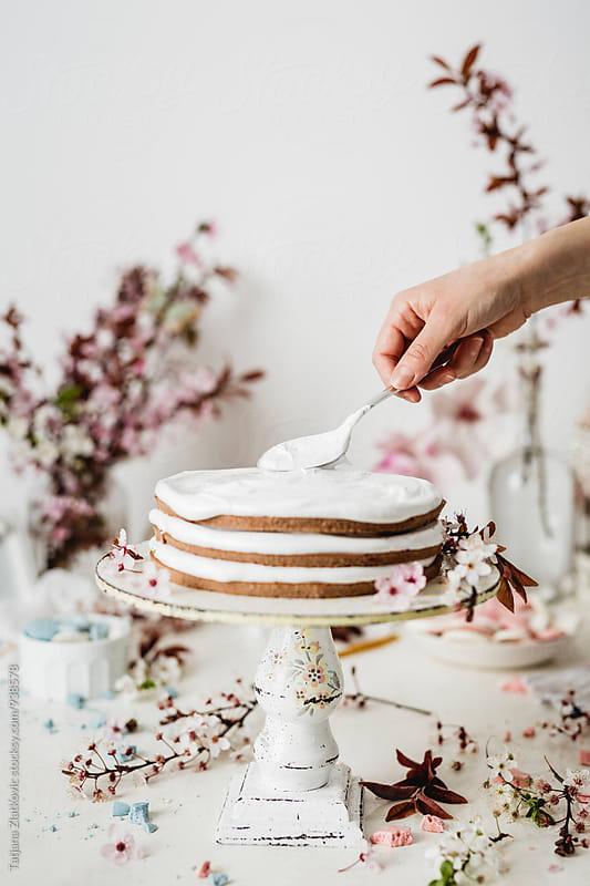 Making spring cake by Tatjana Zlatkovic for Stocksy United