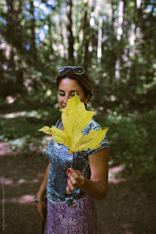 woman in nature by Andrew Cebulka for Stocksy United