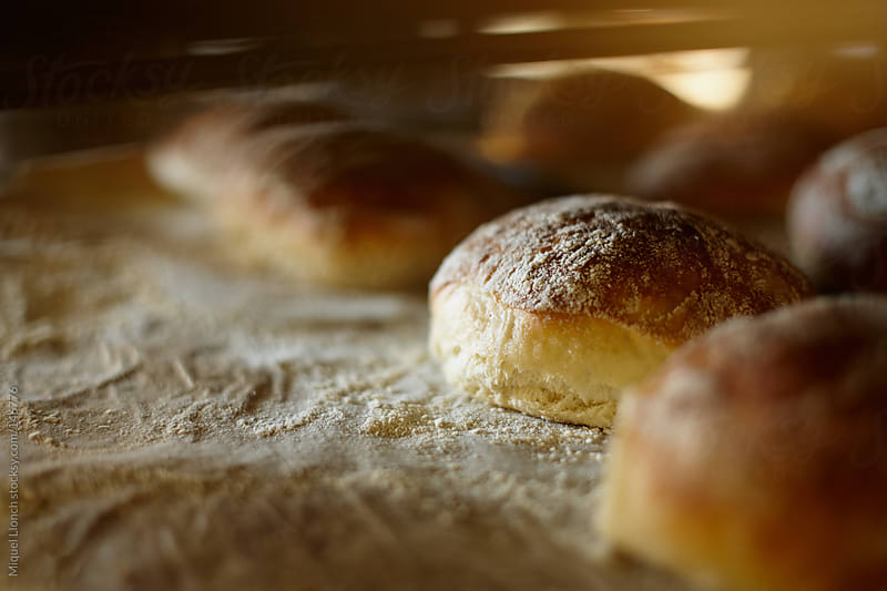 Fresh baked bread rolls by Miquel Llonch for Stocksy United