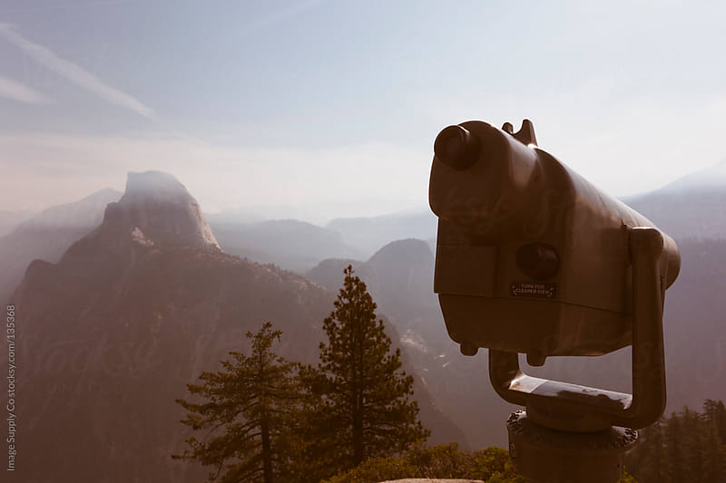 Binoculars overlooking Glacier Point, Yosemite by Image Supply Co for Stocksy United
