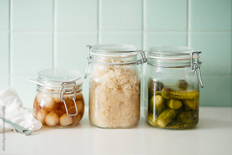 Pickle jars by Alita Ong for Stocksy United
