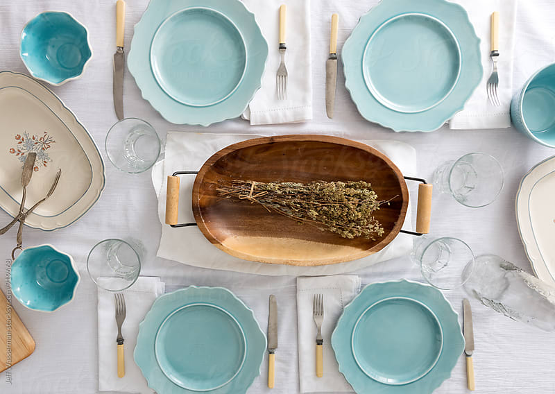 Spring Table Setting  by Jeff Wasserman for Stocksy United
