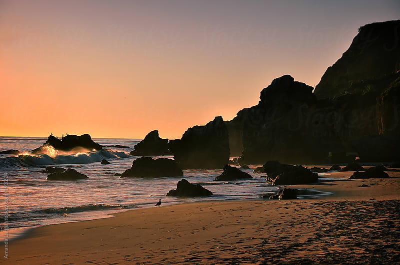 California beach at sunset by Amanda Large for Stocksy United