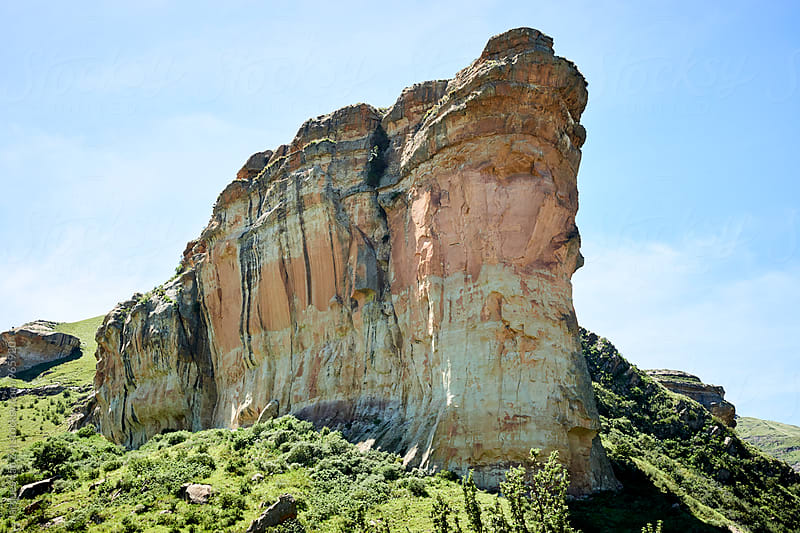 Beautiful sandstone mountains found in the Golden Gate area. by Jacques van Zyl for Stocksy United