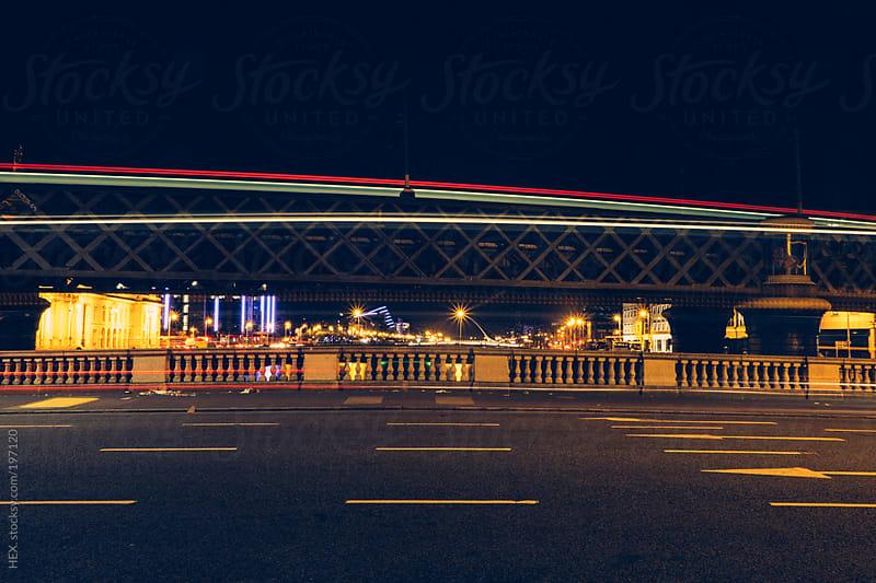 Empty Night Street in Dublin by HEX. for Stocksy United