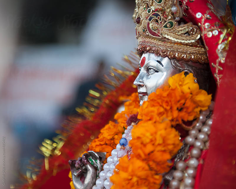 Ganges God deity in Haridwar, where Woshiping of the River is being performed every day by Gabriel Diaz for Stocksy United