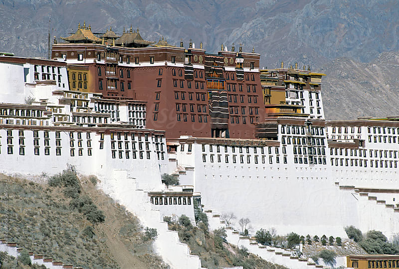 The Potala Palace, former residence of the Dalai Lama in Lhasa, Tibet, Asia by Gavin Hellier for Stocksy United