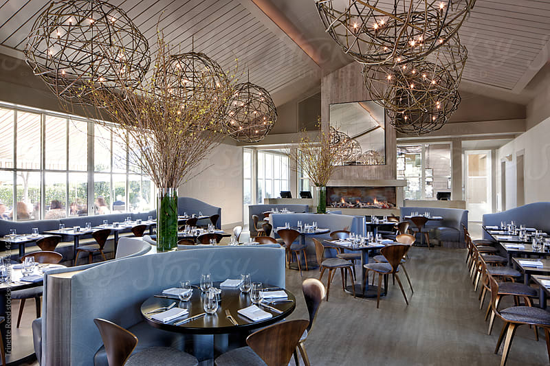 Interiors of luxury upscale restaurant  by Trinette Reed for Stocksy United