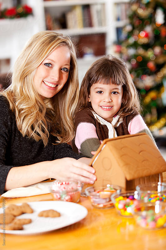 Gingerbread: Mother and Daughter Fun At Christmas by Sean Locke for Stocksy United