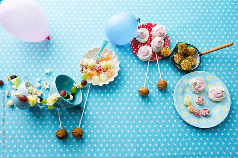 Children party table by J.R. PHOTOGRAPHY for Stocksy United