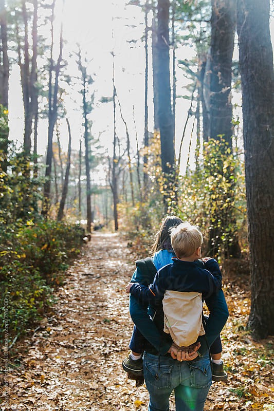 Hiking with Mom by Raymond Forbes LLC for Stocksy United