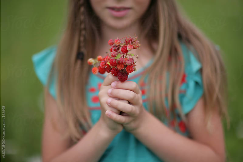 Holding Wild Strawberries by ALICIA BOCK for Stocksy United
