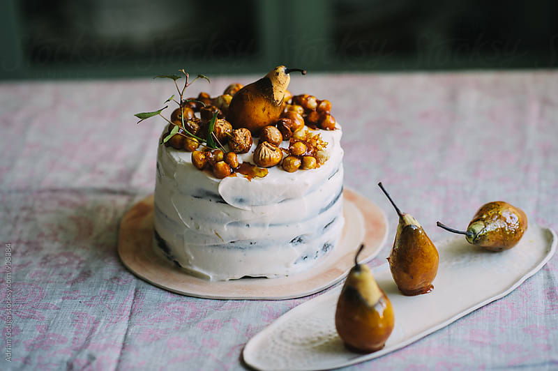 Caramelized fruits cake by Adrian Cotiga for Stocksy United