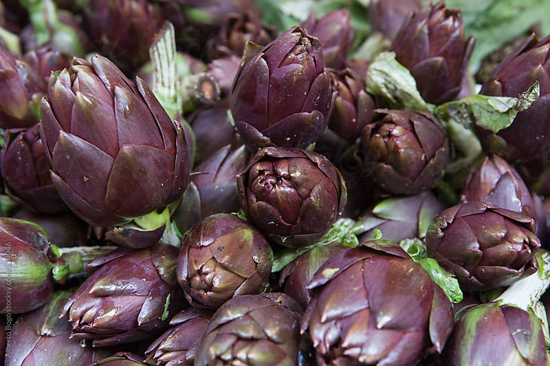 Artichokes on the market by Alberto Bogo for Stocksy United