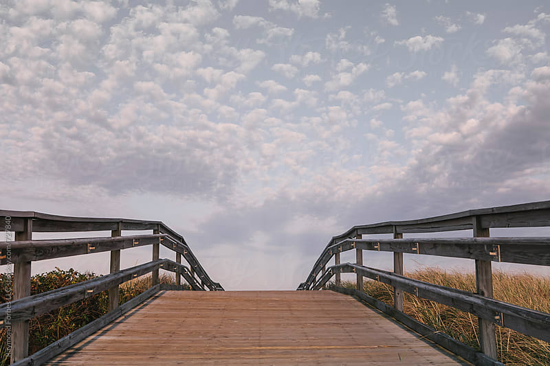 Boardwalk at Duxbury Beach Duxbury, Massachusetts by Raymond Forbes LLC for Stocksy United