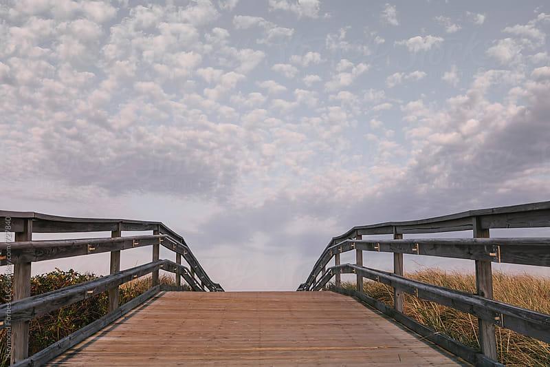 Boardwalk at Duxbury Beach Duxbury, Massachusetts by Raymond Forbes LLC for Stocksy United