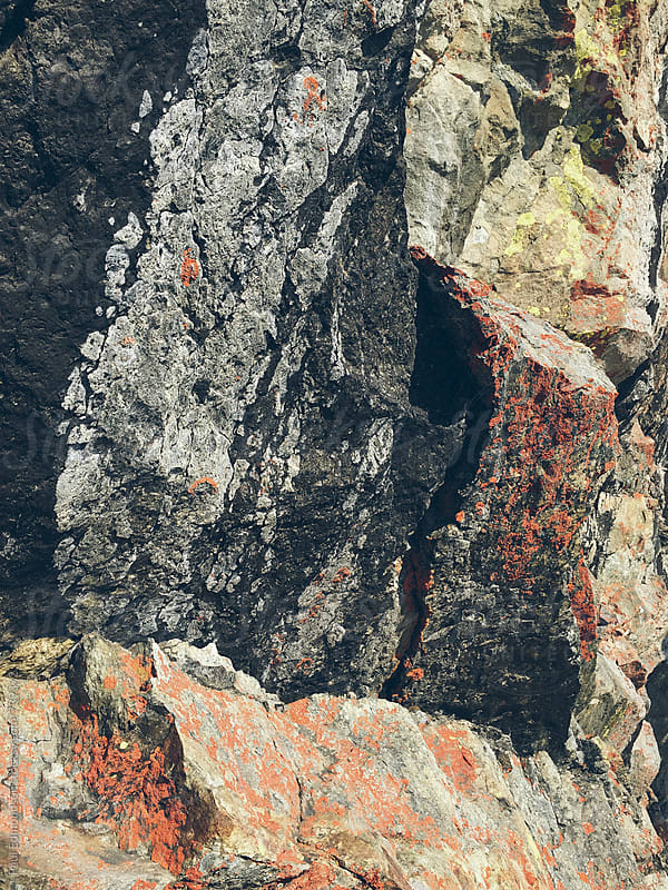 Detail of rock formations at cave entrance, Central Cascades, WA by Paul Edmondson for Stocksy United