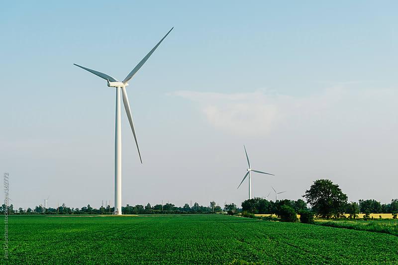 Wind Turbine on Farmland by Jen Grantham for Stocksy United