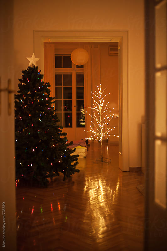 Christmas Tree in a Cozy Apartment by Mosuno for Stocksy United