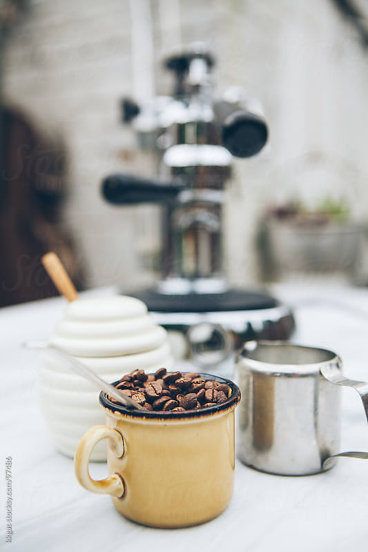 coffee bean in a cup by kkgas for Stocksy United