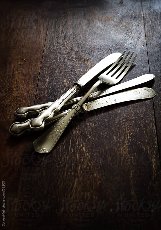 Antique cutlery  by Darren Muir for Stocksy United