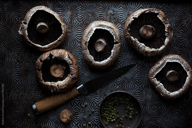 Portobello mushrooms by Nadine Greeff for Stocksy United