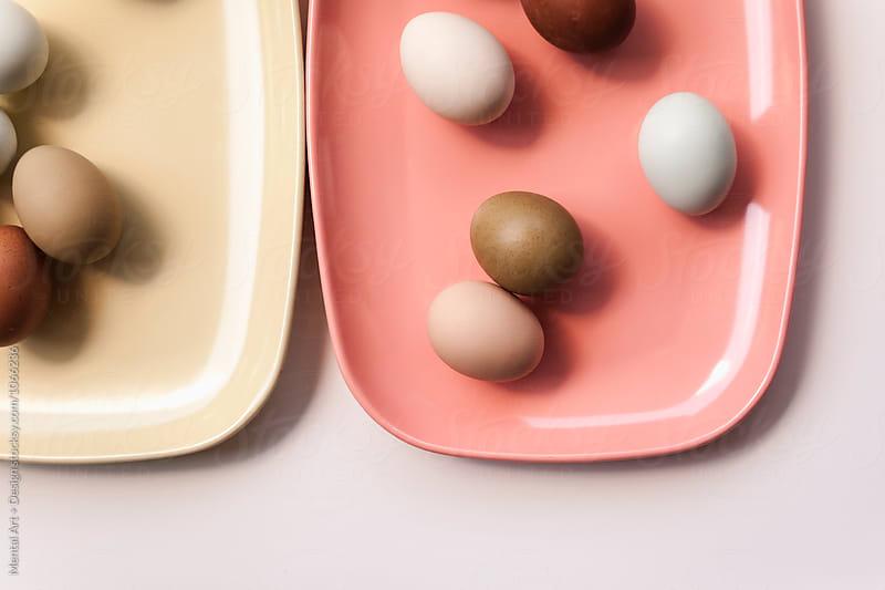 Egg food background by Mental Art + Design for Stocksy United
