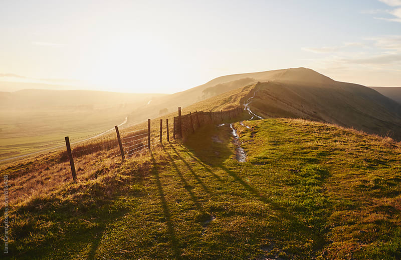 Rushup Edge at sunset. Derbyshire, UK. by Liam Grant for Stocksy United