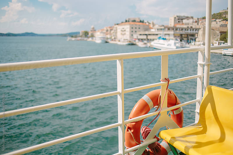 View from the ferry boat by Marko Milovanović for Stocksy United