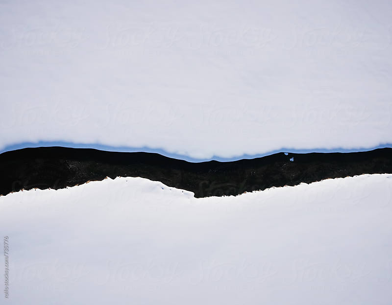 river winter aerial view by rolfo for Stocksy United