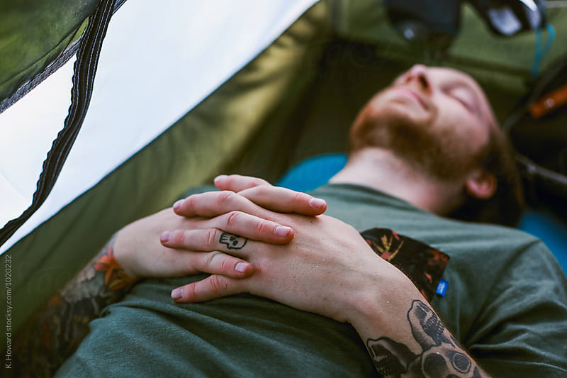 Afternoon Nap in a Tent by K. Howard for Stocksy United