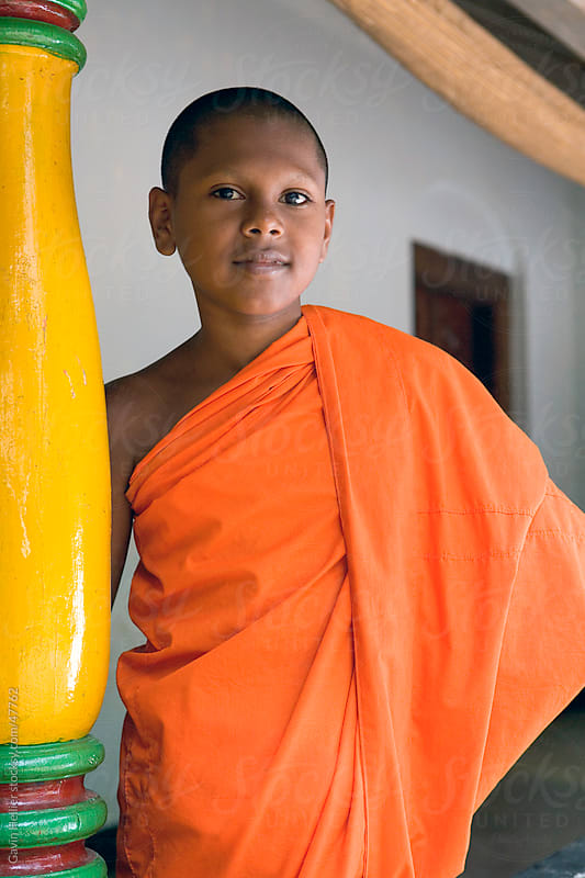 Portrait of a Buddhist monk, Kandy, Sri Lanka, Asia by Gavin Hellier for Stocksy United