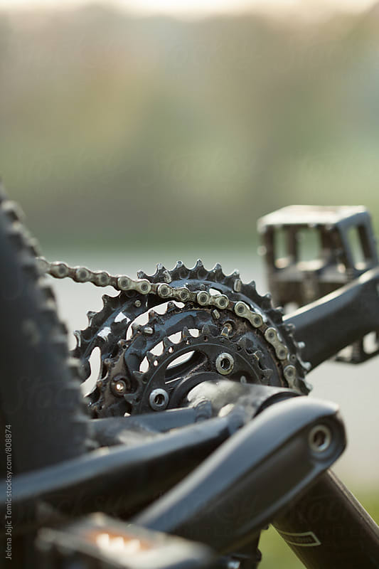 Mountain bike close up by Jelena Jojic Tomic for Stocksy United