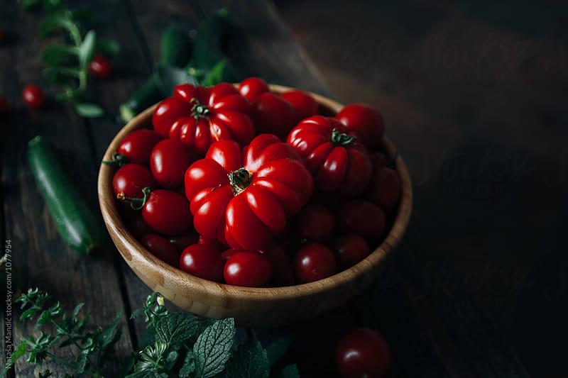 Fresh tomatoes from the garden by Nataša Mandić for Stocksy United