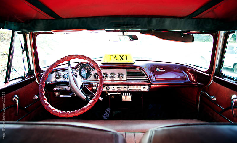 Interior of taxi. Havana. Cuba by Hugh Sitton for Stocksy United