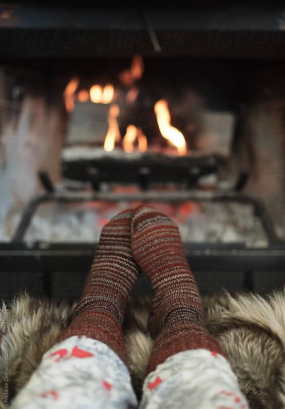 Fireplace by Melanie DeFazio for Stocksy United